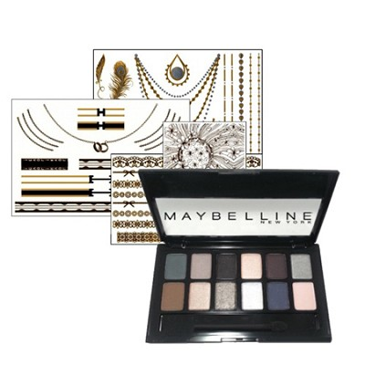 The Smokes Eyeshadow Palette & Jewelry Tattoo Set