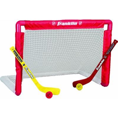 NHL Mini Hockey Goal, Stick, and Ball Set