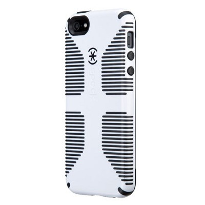 CandyShell Grip Case for iPhone 5 & 5S - Retail Packaging - White/Black