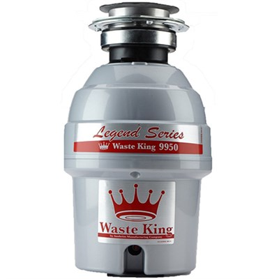 Legend Series 3/4 HP Continuous Feed Garbage Disposal with Power Cord - 9950