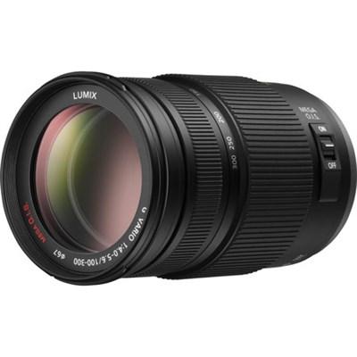 LUMIX G H-FS100300 VARIO 100-300mm / F4.0-5.6 / MEGA O.I.S. Lens - OPEN BOX
