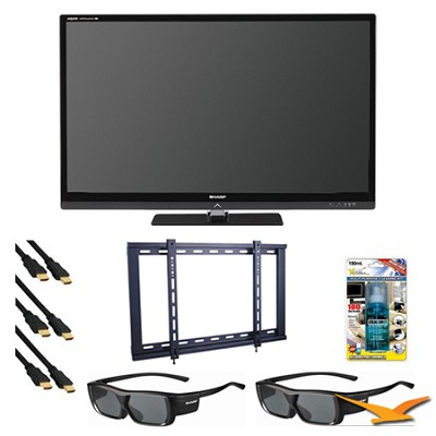 LC46LE835U 46` Aquomotion 240hz AQUOS 3D LED TV Bundle