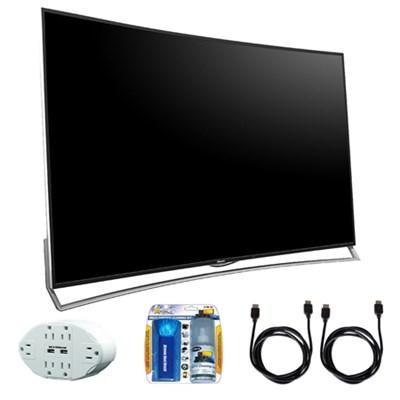 H10 65` Ultra HD 120Hz 4K Curved ULED 3D Smart TV w/ accessory bundle