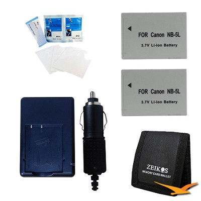 Travel Power Kit for the Canon Powershot S100, S110, SX230 & SX210