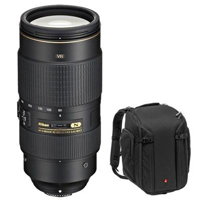AF-S NIKKOR 80-400mm f.4.5-5.6G ED VR Lens w/ Manfrotto Camera Backpack