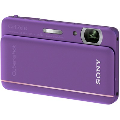 Cyber-shot DSC-TX66 18.2 MP Exmor R CMOS Camera 5X Zoom 3.3` OLED (Violet)