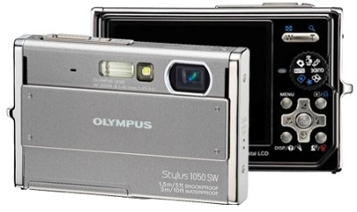 Stylus 1050SW 10MP Shockproof Waterproof Digital Camera (Silver)