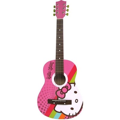Hello Kitty Acoustic Guitar - Pink