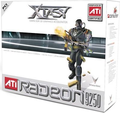 ATI RADEON 9250 128MB DDR 2PORT PCI VGA DVI TV-OUT 250W+ REQ