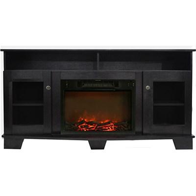 59.1 x17.7 x31.7  Savona Fireplace Mantel with Log Insert