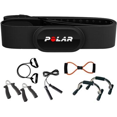 H10 Heart Rate Sensor & Fitness Tracker, Black, Adjustable (M-XXL) + Fitness Kit