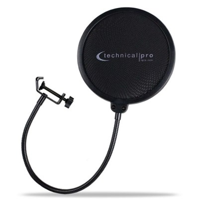 Clamp-on Microphone Pop Filter 6-inch Diameter