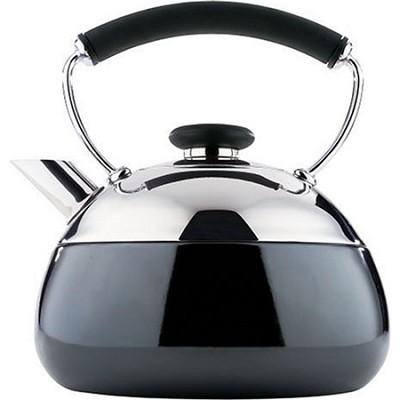 Fusion 2-Quart Polished Stainless Steel Teakettle (2502-8307)