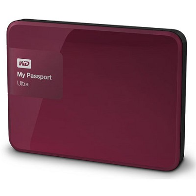 My Passport Ultra 2TB Portable External Hard Drive USB 3.0 Berry (WDBBKD0020BBY)