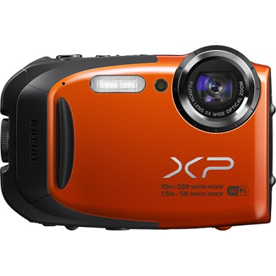 FinePix XP70 Waterproof/Shockproof Digital Camera - Orange Refurb