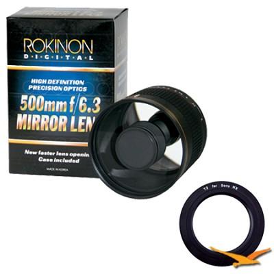 500mm F6.3 Mirror Lens for Sony E-Mount (NEX) (Black Body) - ED500M-B