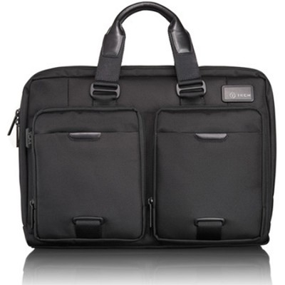 T-Tech Network T-Pass Slim Laptop Brief - Black