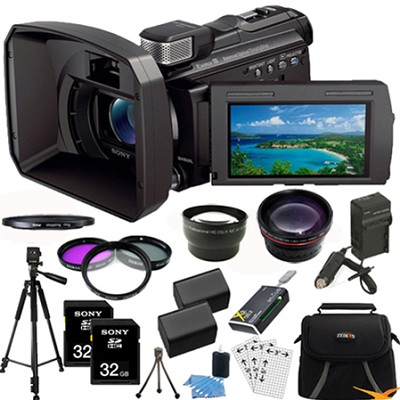 HDR-PJ790V 96GB Full HD Camcorder 24.1 MP stills w/ Projector Ultimate Bundle