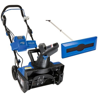 Ion Cordless Single Stage Snow Blower and Snow Broom Kit