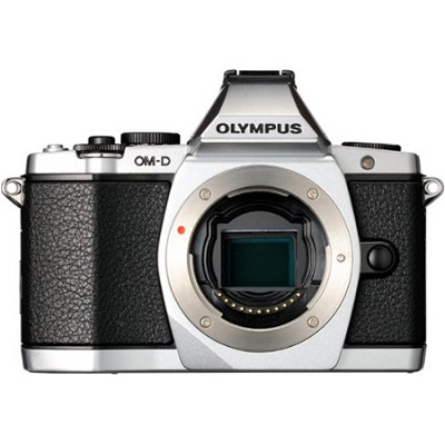 OM-D E-M5 16 MP Live MOS Interchangeable Lens Camera (Silver Body Only)