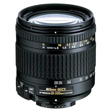 28-200mm F/3.5-5.6G ED-AF Zoom Nikkor Lens With 5-Year USA Warranty - OPEN BOX