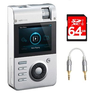 High-Fidelity Portable MP3 Player w/ Gold Minibox Amp Card + 64GB Bundle