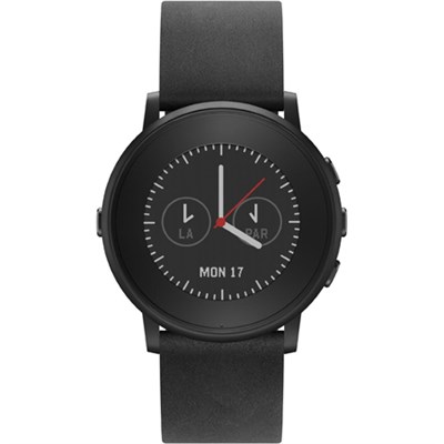 Time Round 20mm Smart Watch for iPhone and Android Devices - Black - OPEN BOX