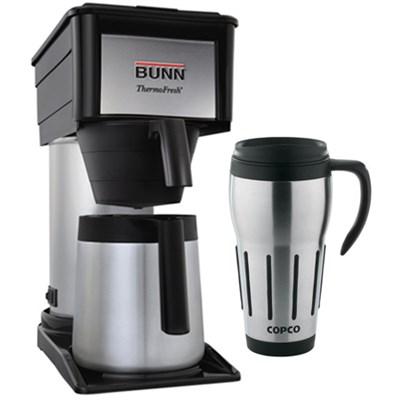 ThermoFresh 10-Cup Thermal Home Coffee Brewer w/ 24oz. Big Joe Thermal Mug