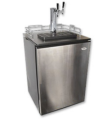 Stainless Steel BrewMaster: Holds 1/2, 1/4 & Mini Barrel Kegs - Stainless