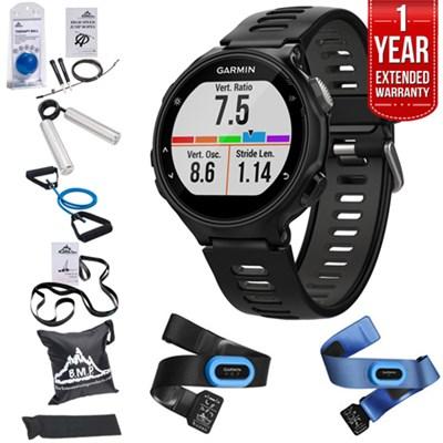 Forerunner 735XT GPS Running Watch Tri-Bundle + Fitness Warranty Kit