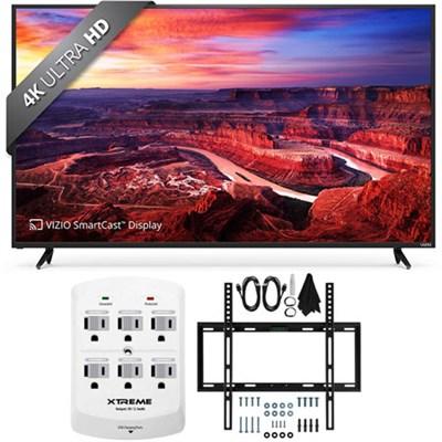 E55-E2 SmartCast 55` Ultra HD Home Theater Display TV w/ Flat Wall Mount Bundle