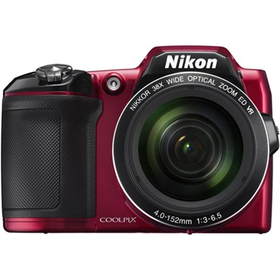 COOLPIX L840 16MP Digital Camera with 38x Zoom VR Lens & WiFi - Red Refurbished