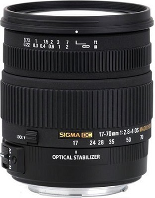 17-70mm f/2.8-4 DC Macro OS HSM Lens for Nikon Mount Digital SLR Cameras