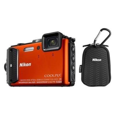 Refurbished COOLPIX AW130 16MP Waterproof Digital Wi-Fi Camera Kit
