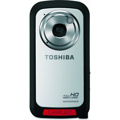CAMILEO Full HD 1080P Waterproof Camcorder, Silver