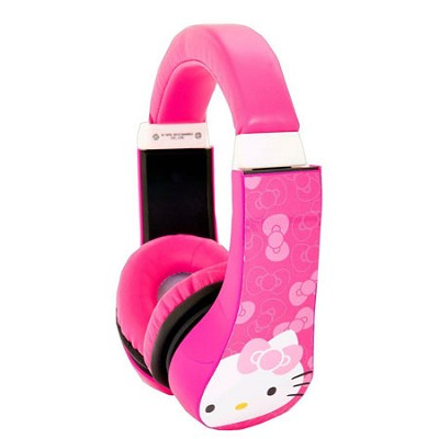 Hello Kitty Kid Safe Over the Ear Headphone with Volume Limiter - 30309-AMZ