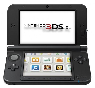 3DS XL Portable Gaming Console Blue and Black (SPRSBKAB)