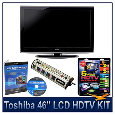 46G300U 46` 1080p LCD HDTV + Hook-Up + Power Protection + Calibration DVD