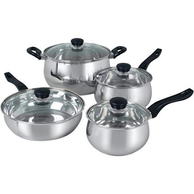 Rametto Stainless Steel 8-Piece Cookware Set