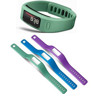 Vivofit Bluetooth Fitness Band (Teal)(010-01225-03) with 3 Extra Bands (large)