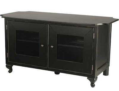 BFV348 - A/V Stand for TVs up to 50` - Distressed Black Finish