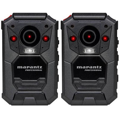 2-Pack Professional Grade Wearable Body Video Camera w/ GPS (PMD-901V)