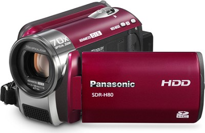 SDR-H80R Camcorder with 70X Zoom & 60GB HDD (Red) - REFURBISHED