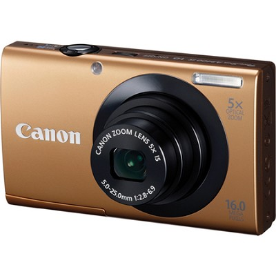 PowerShot A3400 IS 16MP Gold Digital Camera 5x Optical Zoom 3 inch Touch Panel