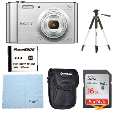 DSC-W800 Point and Shoot Digital Still Camera Silver Kit