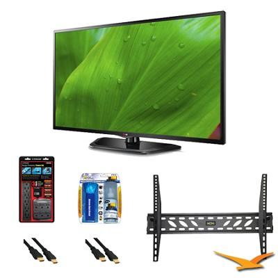 55LN5700 55 Inch 1080p Smart TV 120Hz Dual Core Direct LED Mount Bundle