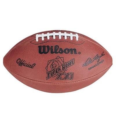 Super Bowl XXI Official Game Ball Football