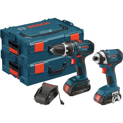 18-Volt Lithium-Ion 2-Tool Drill and Impact Driver Combo Kit