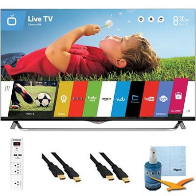 49` 2160p 120Hz 3D Smart LED 4K Ultra HDTV WebOS Plus Hook-Up Bundle (49UB8500)