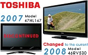 47HL167- 47` HD 1080p LCD TV (changed to the 46-inch 46RV530 current 2008 model)